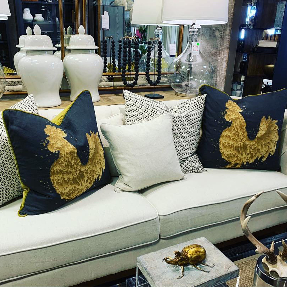 Scatter cushions Cock design
