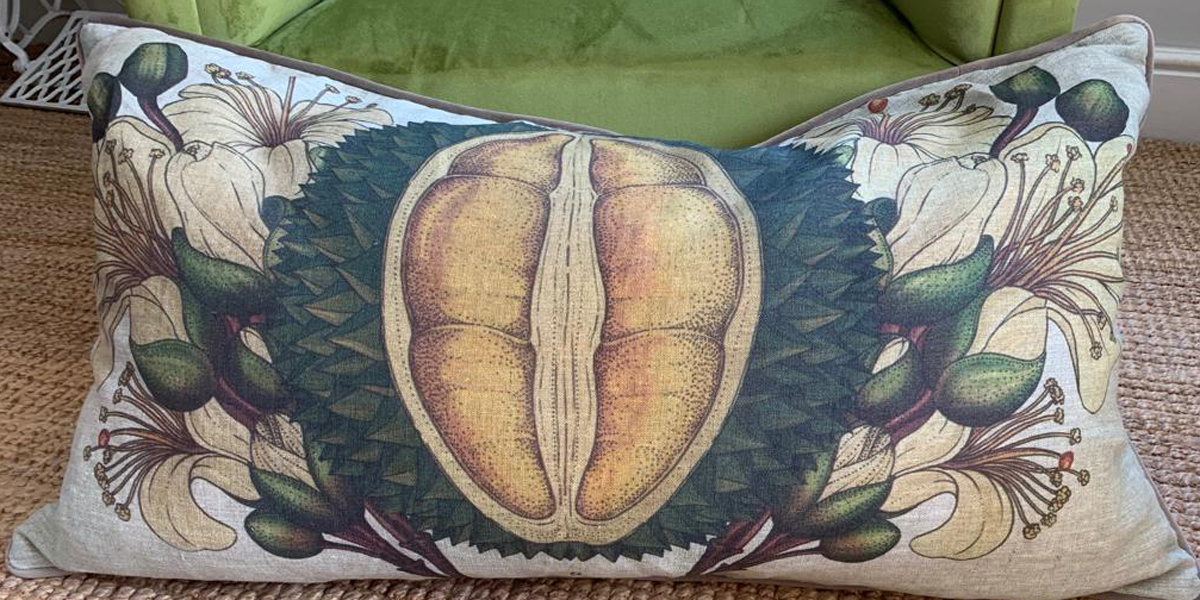 50 x 90 cm cushion with Yellow seed design