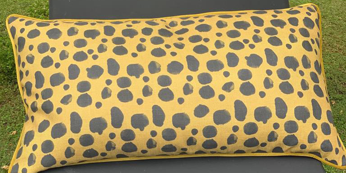 scatter cushion with leopard print design