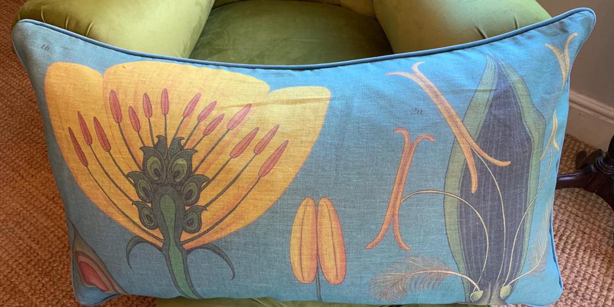 Yellow Flower Rectangular Scatter Cushion