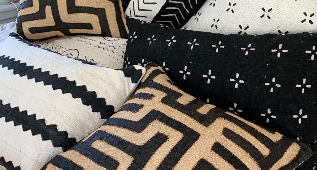Kuba Cloth Scatter cushions