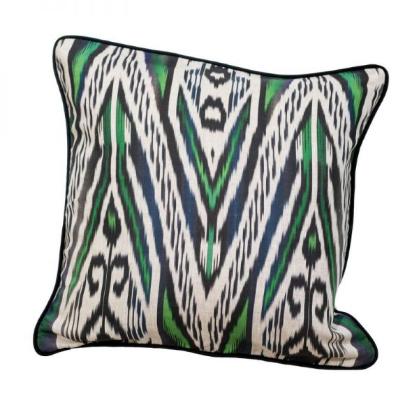 Black and Green Ikat