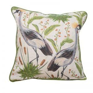 Crowned Bird on Linen